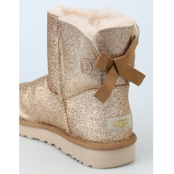 d688f5c6d79 ✨ Ugg Gold Mini Bailey Bow Sparkle Ankle Boots ✨
